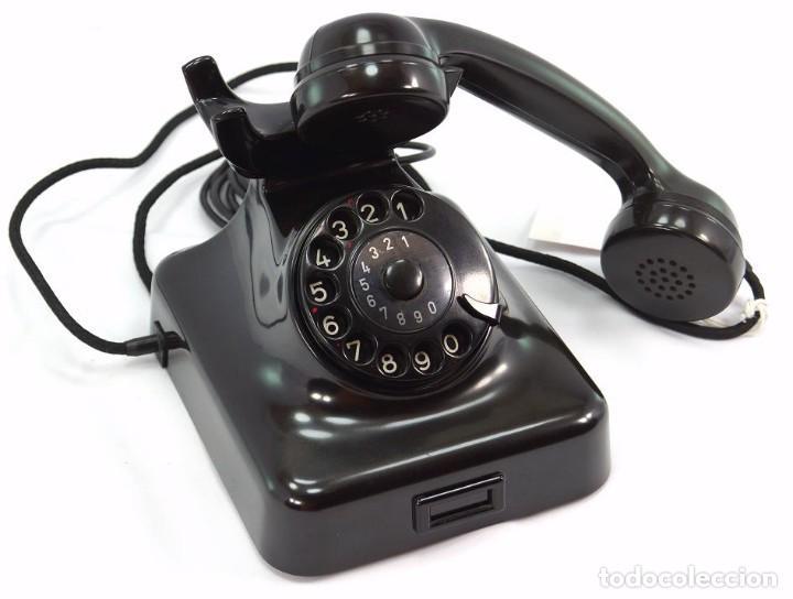 Teléfonos: Teléfono de Baquelita Marca W-48 -Totalmente restaurado funcionando - 68965/9 - Agosto 1954 - Foto 3 - 270364628