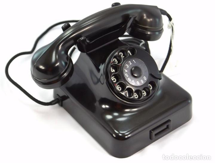Teléfonos: Teléfono de Baquelita Marca W-48 -Totalmente restaurado funcionando - 68965/9 - Agosto 1954 - Foto 4 - 270364628