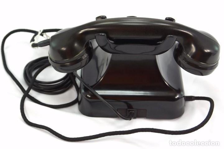 Teléfonos: Teléfono de Baquelita Marca W-48 -Totalmente restaurado funcionando - 68965/9 - Agosto 1954 - Foto 5 - 270364628