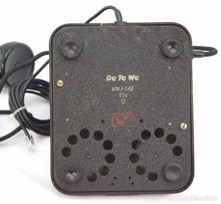 Teléfonos: Teléfono de Baquelita Marca W-48 -Totalmente restaurado funcionando - 68965/9 - Agosto 1954 - Foto 6 - 270364628