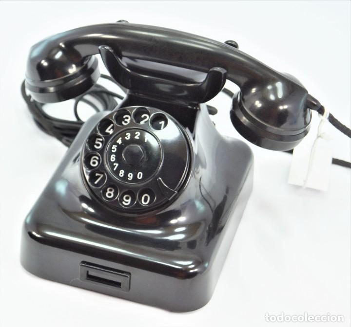 TELÉFONO DE BAQUELITA MARCA W-48 -TOTALMENTE RESTAURADO FUNCIONANDO - 68965/10 - SEPTIEMBRE 1960 (Antigüedades - Técnicas - Teléfonos Antiguos)