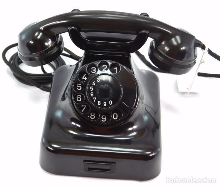 Teléfonos: Teléfono de Baquelita Marca W-48 -Totalmente restaurado funcionando - 68965/10 - Septiembre 1960 - Foto 2 - 270365203