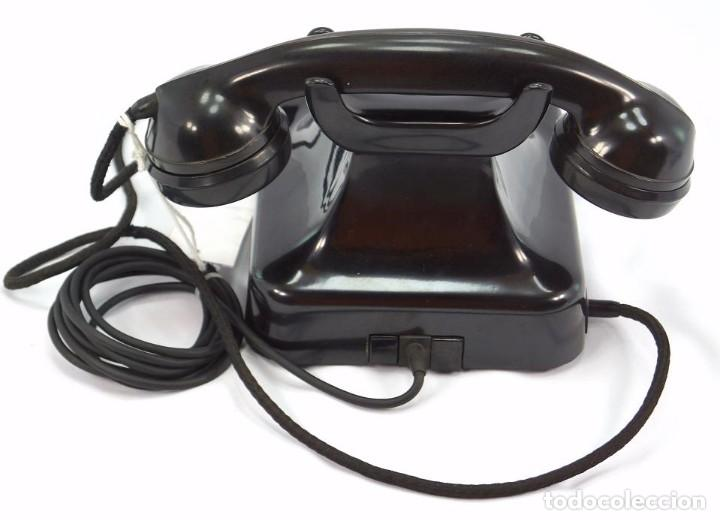 Teléfonos: Teléfono de Baquelita Marca W-48 -Totalmente restaurado funcionando - 68965/10 - Septiembre 1960 - Foto 5 - 270365203
