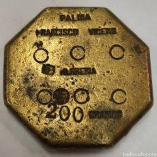 Antigüedades: PESA PONDERAL MALLORQUINA DE 6 ONZAS. Lote 270384778