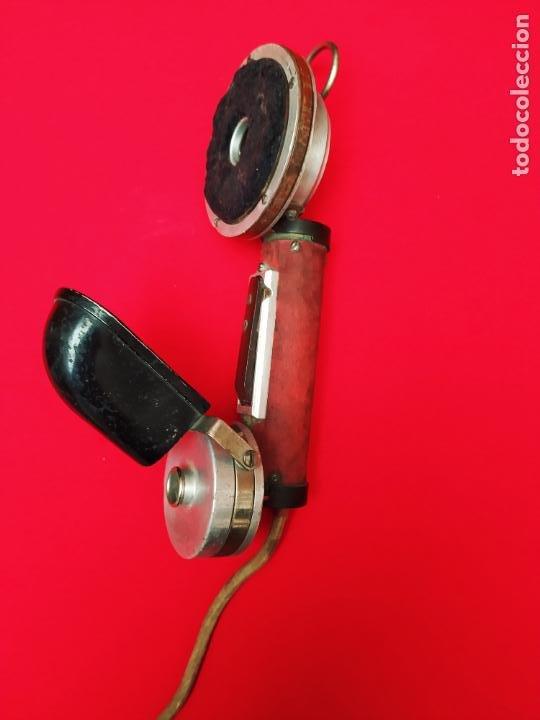 TELÉFONO MILITAR 1905 E. ZWIETUSCH & DE CO. ALEMANIA (Antigüedades - Técnicas - Teléfonos Antiguos)