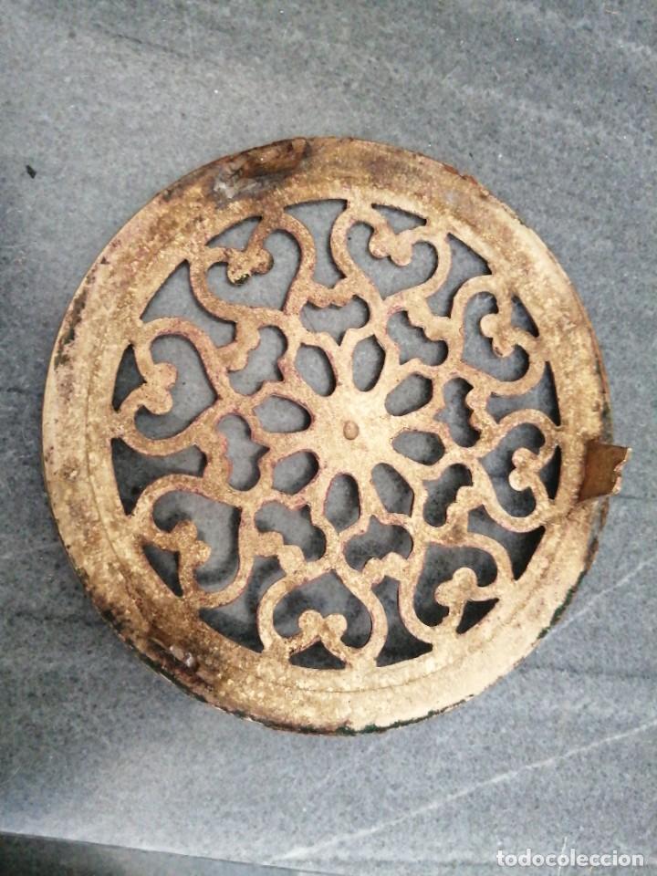 Antigüedades: Antigua MIRILLA OJO DE METAL BRONCE FORMA DE CORAZÓN para PUERTA de madera cerrajeria - Foto 5 - 270641698