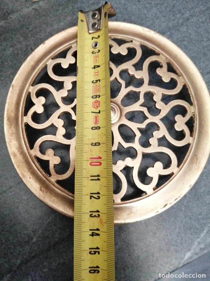 Antigüedades: Antigua MIRILLA OJO DE METAL BRONCE FORMA DE CORAZÓN para PUERTA de madera cerrajeria - Foto 7 - 270641698