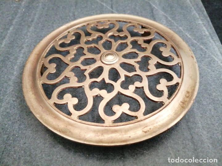 Antigüedades: Antigua MIRILLA OJO DE METAL BRONCE FORMA DE CORAZÓN para PUERTA de madera cerrajeria - Foto 8 - 270641698