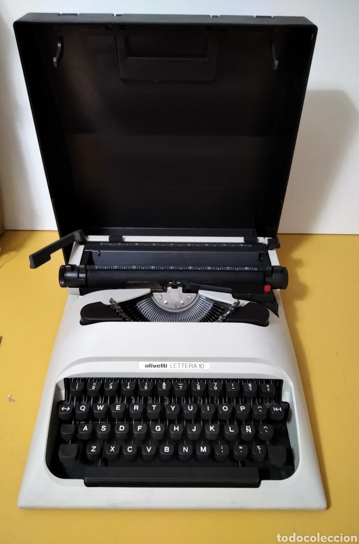 ANTIGUA MAQUINA DE ESCRIBIR OLIVETTI LETTERA 10 (Antigüedades - Técnicas - Máquinas de Escribir Antiguas - Olivetti)