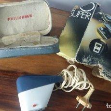 Antigüedades: ANTIGUA AFEITADORA ELECTRICA PHILIPS PHILISHAVE, FUNCIONA. Lote 270891423