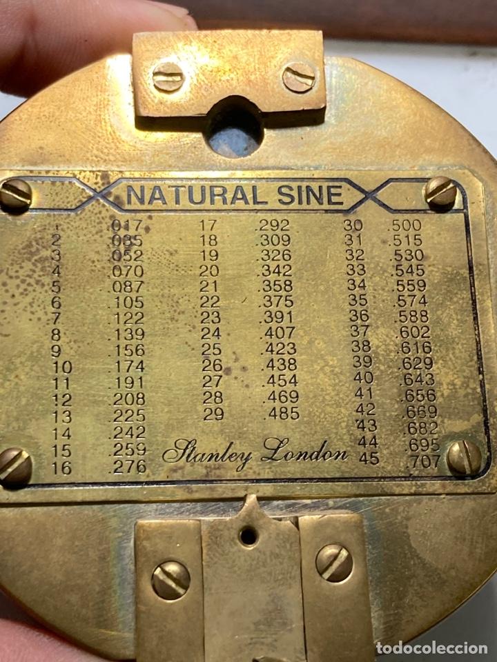 Antigüedades: Antiguo compás brújula náutica Stanley London en su caja de madera - Foto 5 - 270926758