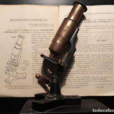 Antigüedades: MICROSCOPÍA CONSTRUCTO - MICROSCOPIO DE INICIACIÓN - CON INSTRUCCIONES ORIGINALES - AÑOS 1940. Lote 270975948