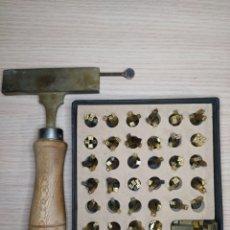 Antigüedades: TIPOGRAFÍA BRONCES PARA DORAR. Lote 271711278