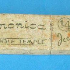Antigüedades: LA FILARMONICA 14 NAVAJA DOBLE TEMPLE ,JOSE MONSERRAT POU CON SU CAJA, LEER DETALLES. Lote 272095203