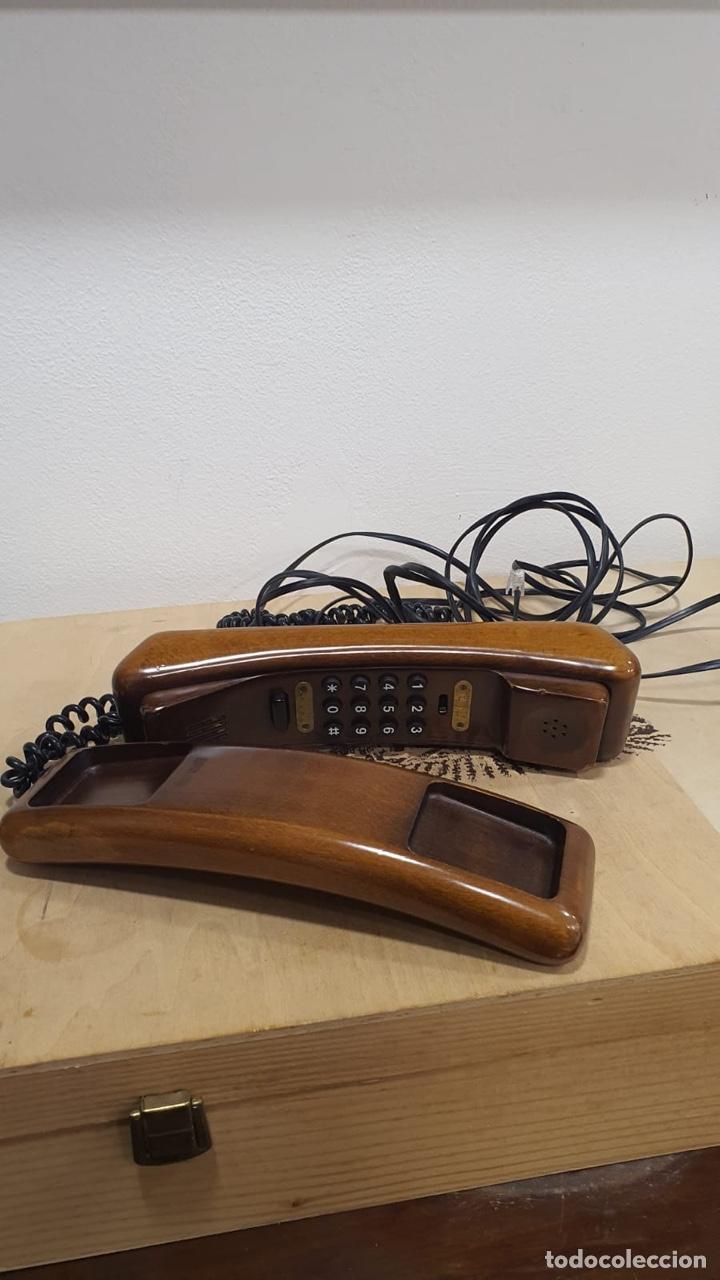 TELÉFONO DE MADERA SOLAC (Antigüedades - Técnicas - Teléfonos Antiguos)