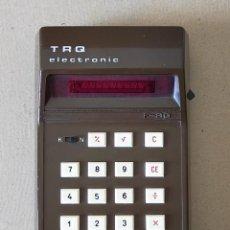 Antigüedades: ANTIGUA CALCULADORA: TRQ ELECTRONIC F-80 (LEDS ROJOS / 7 DIGITOS) EN FUNCIONAMIENTO. Lote 272439858