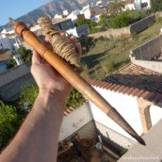 Antigüedades: ENORME COMPAS DE MADERA 50,5 CM , HERRAMIENTA DE AGRIMENSOR. Lote 272761368