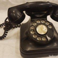 Teléfonos: TELEFONO DE SOBREMESA DE BAQUELITA NEGRA. Lote 272960203
