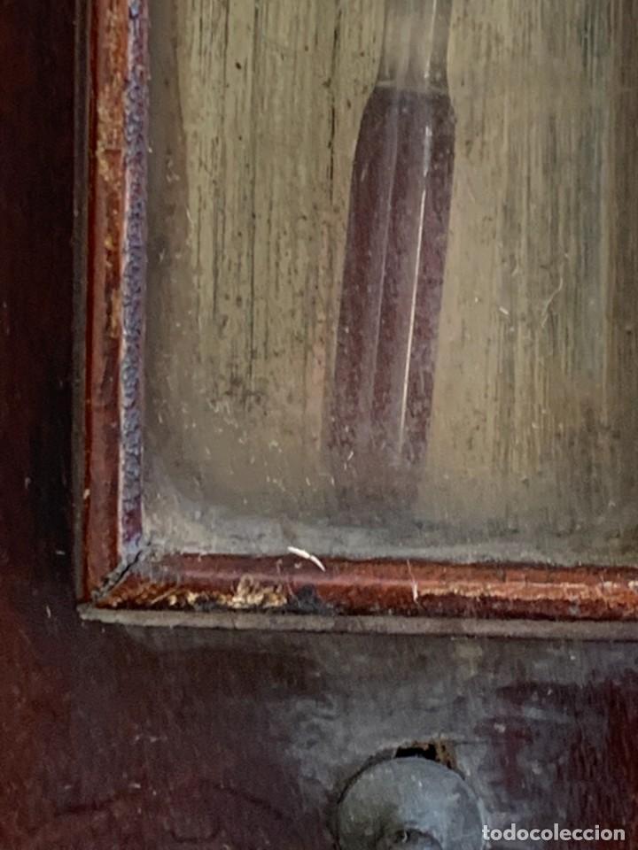 Antigüedades: BAROMETRO BAROMETER CHANGE A. PAGE MARLBORUGH INGLATERRA ESPEJO CONVEXO PPIO S XIX 96X26CMS - Foto 9 - 273091148