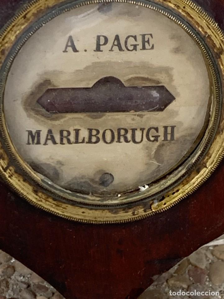 Antigüedades: BAROMETRO BAROMETER CHANGE A. PAGE MARLBORUGH INGLATERRA ESPEJO CONVEXO PPIO S XIX 96X26CMS - Foto 16 - 273091148