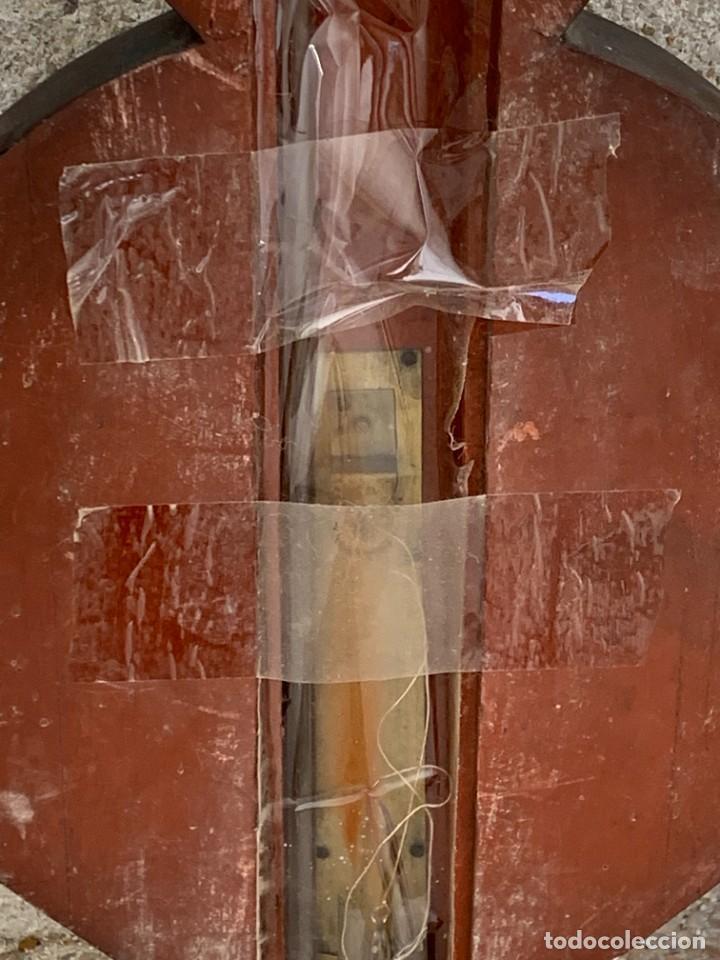Antigüedades: BAROMETRO BAROMETER CHANGE A. PAGE MARLBORUGH INGLATERRA ESPEJO CONVEXO PPIO S XIX 96X26CMS - Foto 23 - 273091148