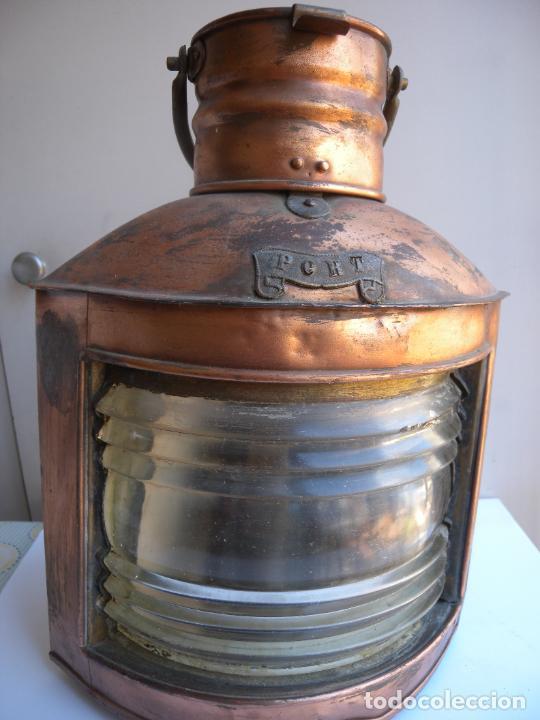 FAROL DE BARCO ORIGINAL (Antigüedades - Antigüedades Técnicas - Marinas y Navales)