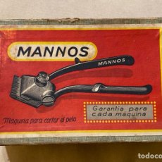 Antigüedades: MÁQUINA PARA CORTAR EL PELO MANNOS , AÑOS 40. Lote 273211158