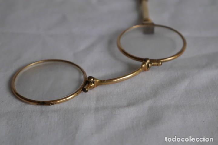 Antigüedades: Gafas graduadas con asa (sin patillas) plegables, baño de oro - Foto 8 - 273347673