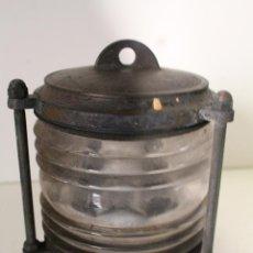 Antiquités: FAROL DE BARCO EN BRONCE Y CRISTAL MILETICH. Lote 273602823