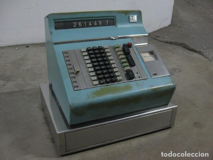 ANTIGUA CAJA REGISTRADORA HUGIN. (Antigüedades - Técnicas - Aparatos de Cálculo - Cajas Registradoras Antiguas)