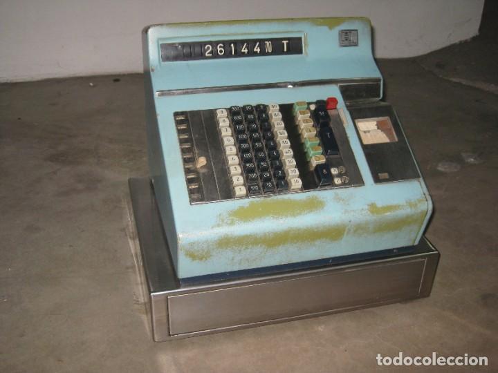 Antigüedades: Antigua caja registradora Hugin. - Foto 8 - 274004463