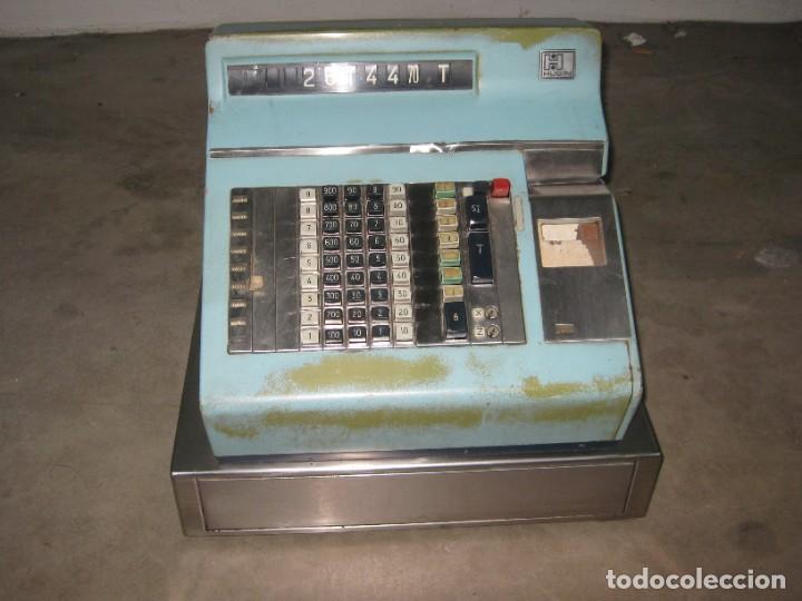 Antigüedades: Antigua caja registradora Hugin. - Foto 12 - 274004463