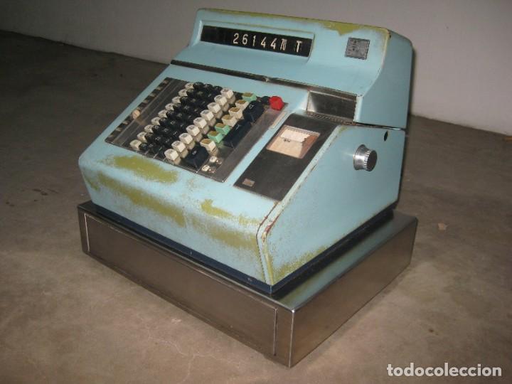 Antigüedades: Antigua caja registradora Hugin. - Foto 14 - 274004463
