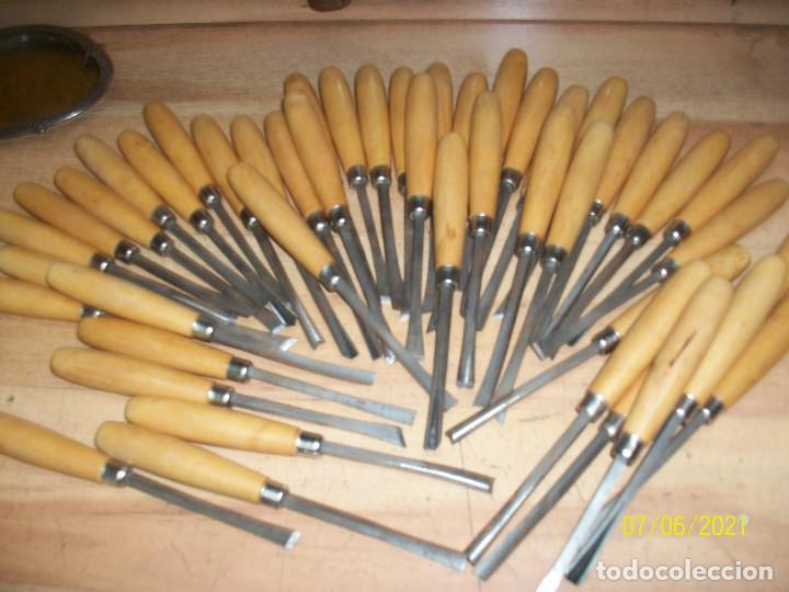 LOTE DE 46 FORMONES (Antigüedades - Técnicas - Herramientas Profesionales - Carpintería )