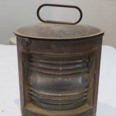 Antigüedades: IMPRESIONANTE FARO DE BARCO ANTIGUO. Lote 274278413