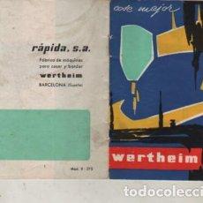 Antigüedades: CATALOGO DE LA MAQUINA COSER WERTHEIM -. Lote 274422923