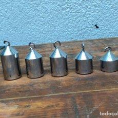 Antigüedades: LOTE DE 5 PESOS DEL GANCHO ECONÓMICO . INDIVIDUAL . VER FOTOS. Lote 274633278