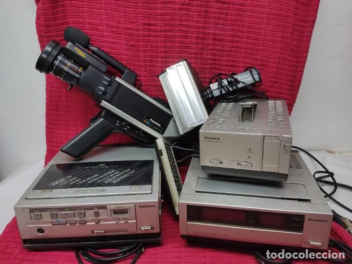 EQUIPO GRABACION PANASONIC WVP-55E,ADACTADOR NV.B11,VIDEO ADAPTOR,VIDEO VHS NV100.VER FOTOS. (Antigüedades - Técnicas - Aparatos de Cine Antiguo - Cámaras de Super 8 mm Antiguas)