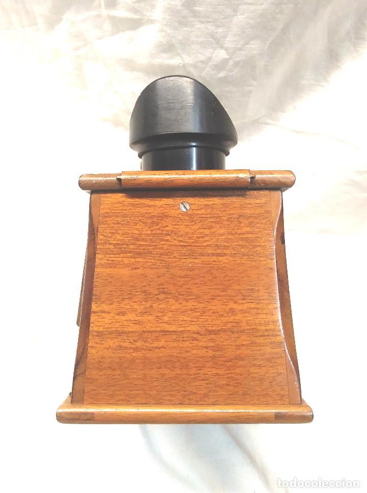 Antigüedades: Unis Visor Esteroscópico madera de Caoba S XIX, Completo todo de Origen, Buen Estado - Foto 6 - 274810508