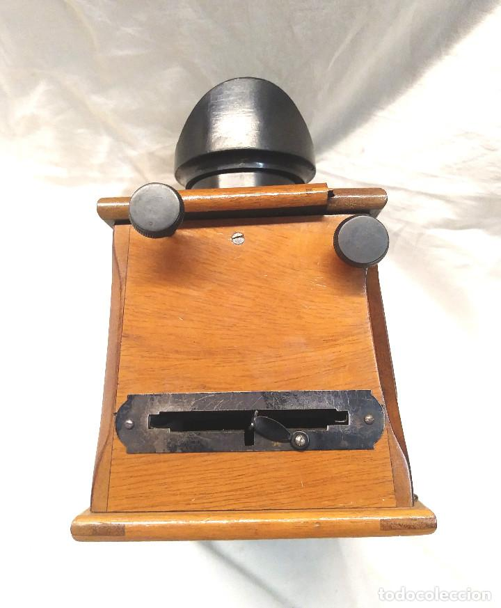 Antigüedades: Unis Visor Esteroscópico madera de Caoba S XIX, Completo todo de Origen, Buen Estado - Foto 8 - 274810508