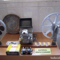 Antiquités: ENVIO: 10€ MOVIOLA + BRAZOS MURAY 16MM COMPLETA VISIONADORA DE PELICULAS CINE FUNCIONANDO!. Lote 274852508