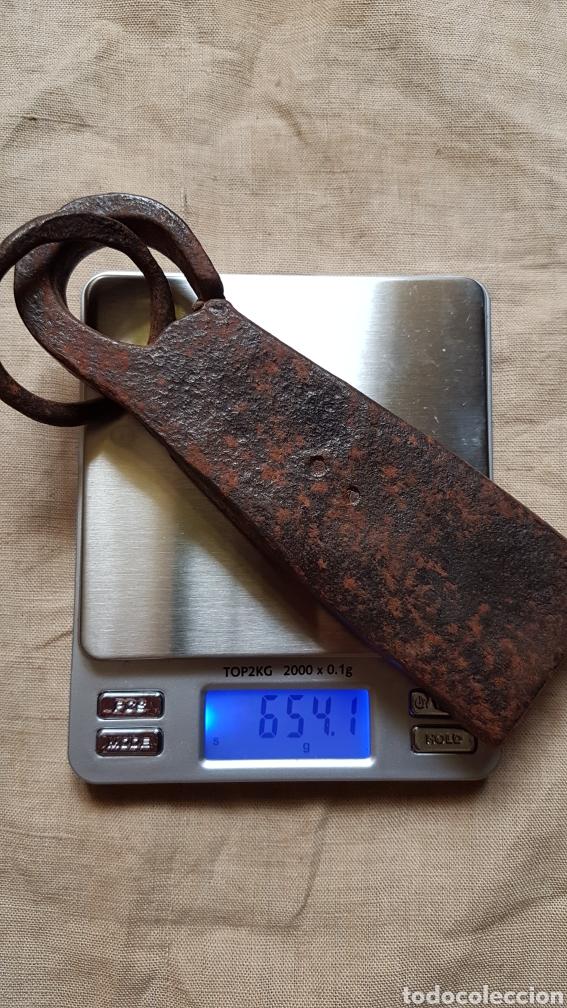 Antigüedades: Antiguo ponderal peso romana marcas 654 gramos - Foto 3 - 274854613