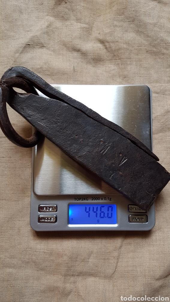 Antigüedades: Antiguo ponderal peso romana marcas 446 gramos - Foto 3 - 274854808