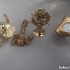 Antigüedades: OBJETOS NAVALES MARINEROS DE DECORACIÓN. Lote 275056103