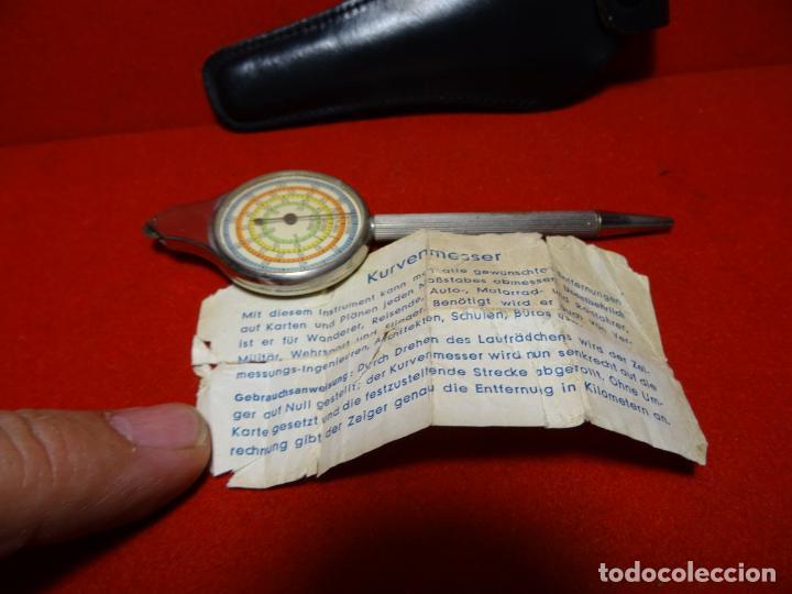 Antigüedades: Antiguo aparato para medir curvas. Curvímetro aleman - Foto 7 - 275070108