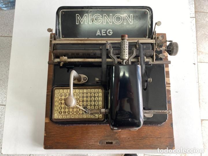 """MAQUINA DE ESCRIBIR MIGNON """"AEG"""" (Antigüedades - Técnicas - Máquinas de Escribir Antiguas - Mignon)"""
