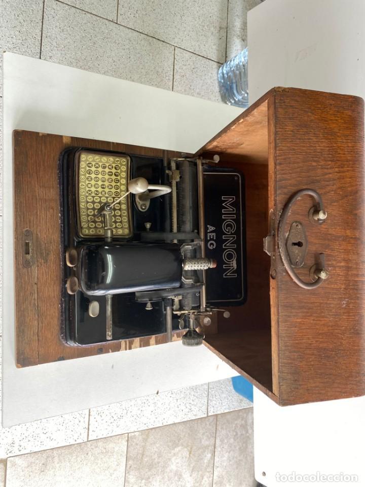 """Antigüedades: maquina de escribir MIGNON """"AEG"""" - Foto 3 - 275132878"""