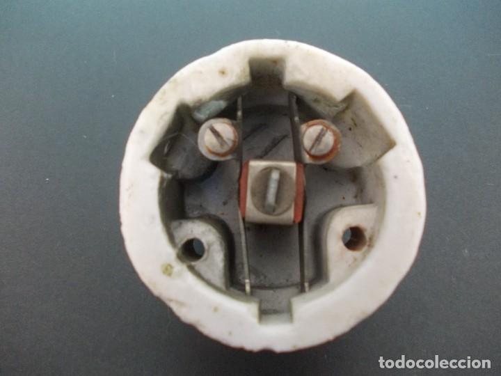 Antigüedades: Interruptor Practico con llave de madera - Foto 10 - 275151143