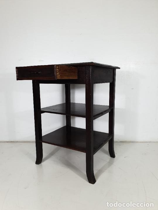 Antigüedades: Maquina de Escribir - Marca Royal - con Tapa de Madera y Mesa - Principios S. XX - Foto 19 - 275182868