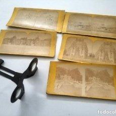 Antigüedades: LOTE DE FOTOGRAFIAS ESTEREOSCOPIAS DE PARIS CON UN VISOR UNIS FRANCE. Lote 275257833